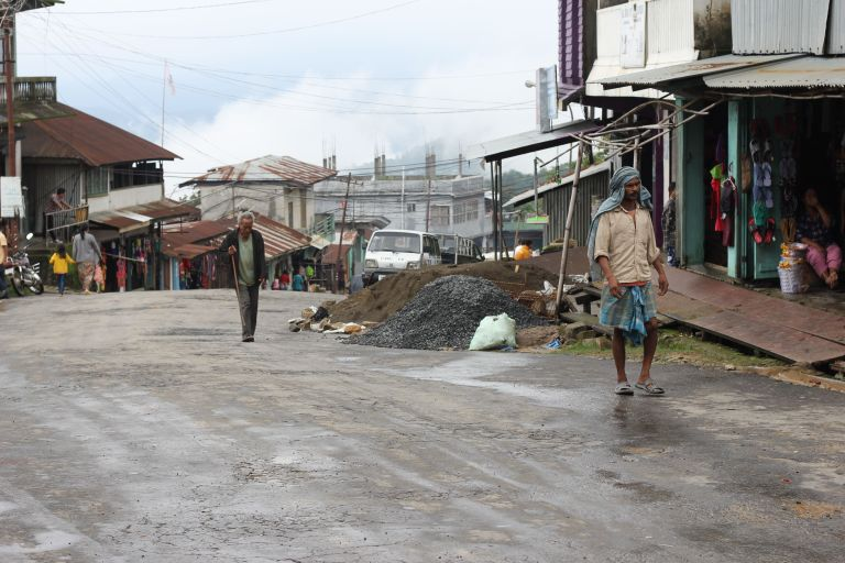 A stroll down the main street of Tamenglong
