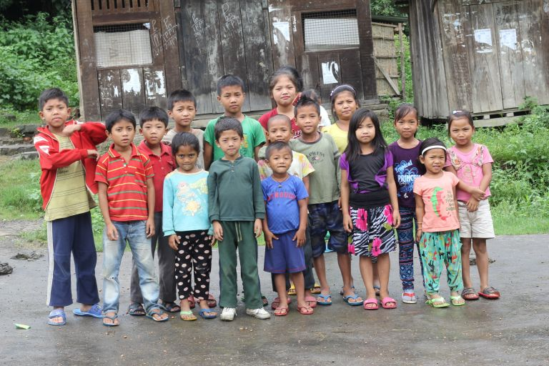 Children of  Govajang village, Manipur