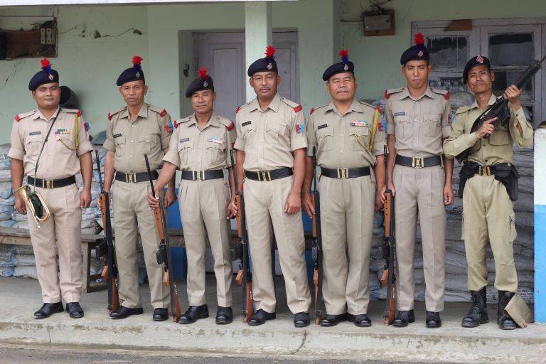 Policemen in Kohima happy to be photographed. We had to register our presence!