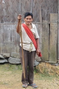 Naga man looking to spear something