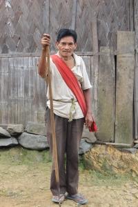 Naga man looking to spear something
