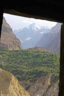 Window over the Hunza Valley from a 1000yr old lookout tower.